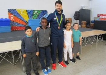 Olympic bronze medallist inspires Castle Academy pupils to aim high