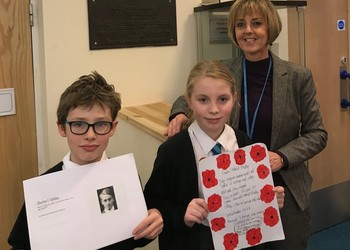 Pupils honour former teachers who died in the First World War