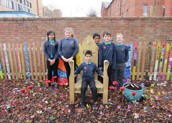 Memory garden unveiled at Castle Academy in honour of former staff member