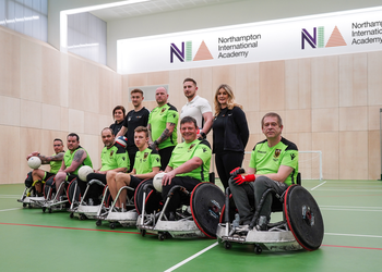 Saints Wheelchair Rugby partners up with Northampton International Academy
