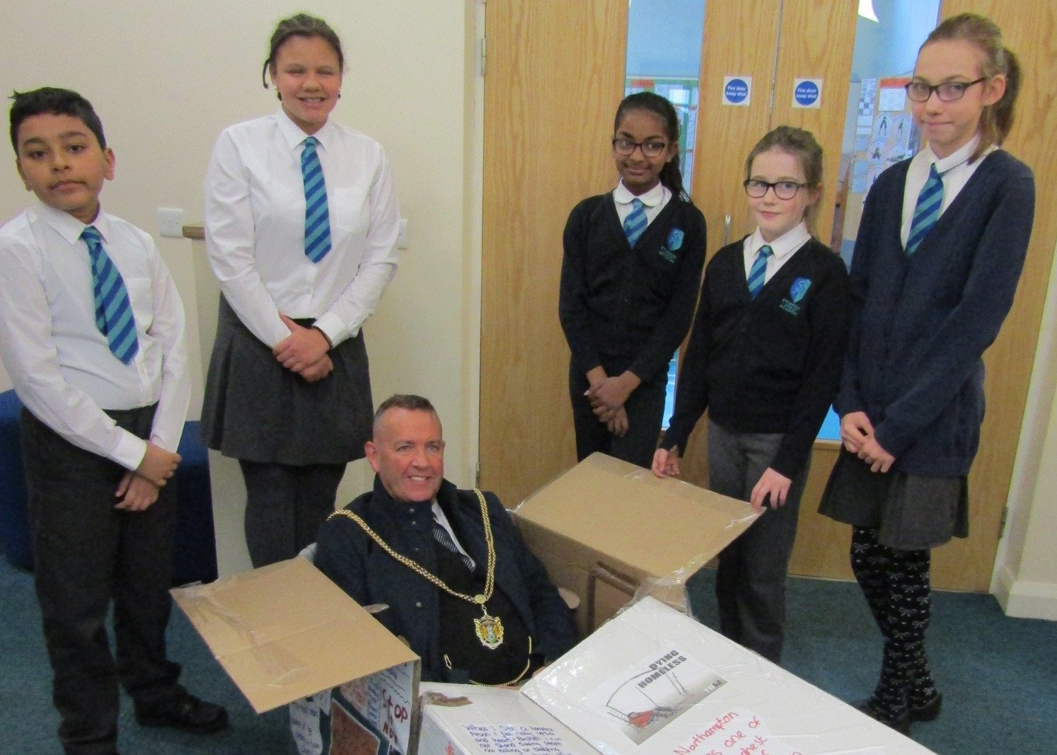 Stimpson Avenue Academy Pupils Support Mayor's Big Sleep Out