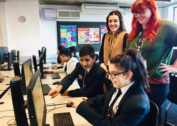 Students and school pupils buddy up for coding club initiative