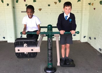 New play equipment for pupils at Stimpson Avenue!