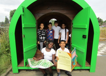 Hobbit holes at Castle Academy provide a quiet haven for breaktimes