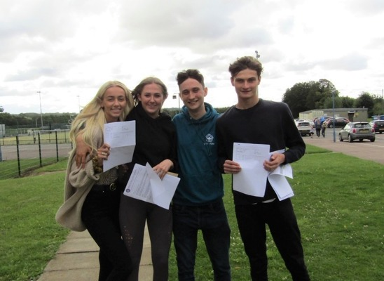 A levels Emma Wilson, Katie Gallon, Harry James and Sam Gerry