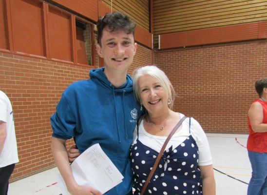 A levels Harry James with his mum