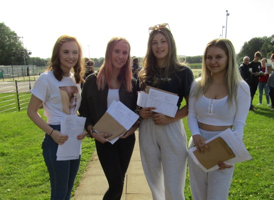 GCSE results 2019 Sophie Acred, Jenny Coles, Sophie Woods and Lois Walsh