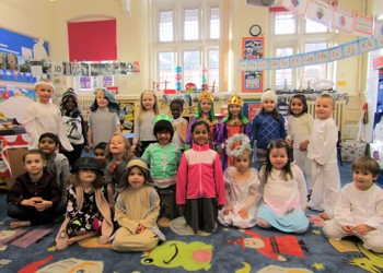 Reception class takes to the stage at Stimpson Avenue