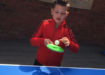 New table tennis is a hit at Stimpson Avenue!