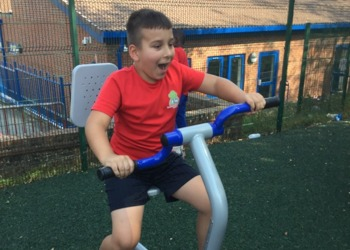 Let's get physical! New outdoor PE equipment at Orchard Academy
