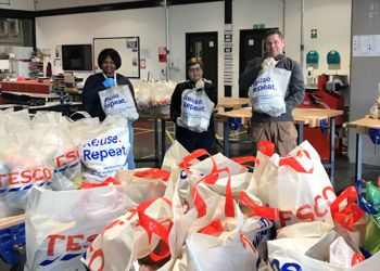 EMAT honoured for providing vital food parcels for families during Covid lockdown