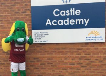 Clarence the Dragon visits Castle Academy to inspire reading