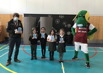 Clarence the Dragon Kick Starts a Love of Reading at Stimpson Avenue