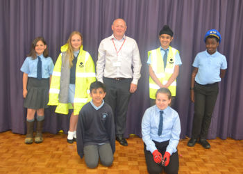 Hardingstone pupils learn about building site safety thanks to Tilia Homes