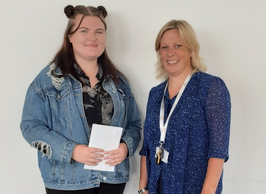 Chloe Harrison secured 3 x A grades in Biology, Chemistry and Mathematics