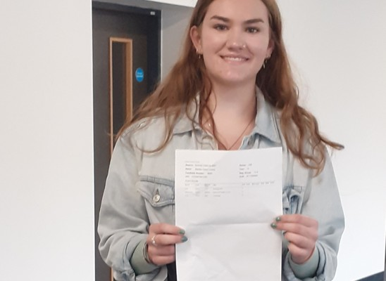 Maddie Lovesy secured 3 A stars in Drama, Psychology and Sociology A Levels